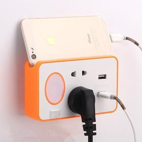 插座多功能带夜灯插头转换器