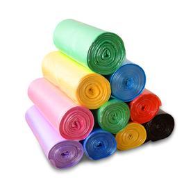 家用彩色垃圾袋加厚5卷装