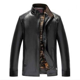 冬季男士皮衣加绒加厚外套