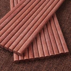实木红檀木筷子套装10双