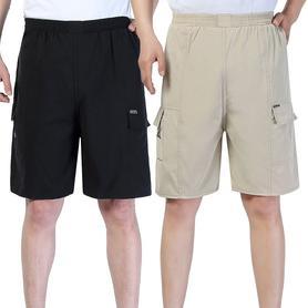 男士薄款短裤松紧带宽松沙滩裤