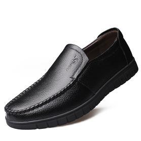 爸爸鞋中年男士休闲皮鞋