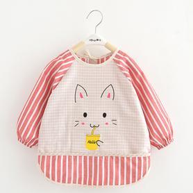 宝宝纯棉防水罩衣