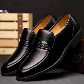 冬季男士皮鞋真皮黑色商务正装男鞋加绒保暖棉鞋休闲中老年爸爸鞋