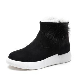 雪地靴女鞋保暖百搭平底冬鞋棉鞋