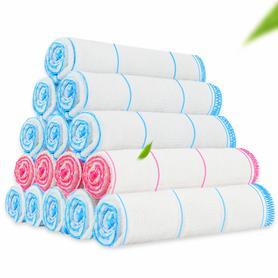 10条装 吸水不沾油棉纱洗碗布