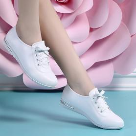 2017春秋新款真皮时尚小白鞋