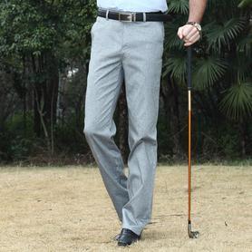 新品休闲裤男士薄款修身直筒长裤