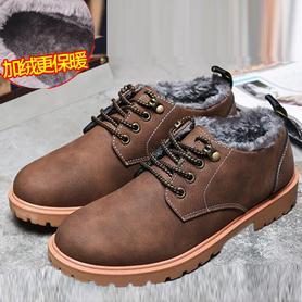 男鞋秋冬季工装鞋低帮大头鞋