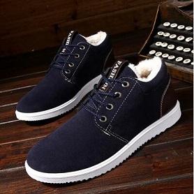 2017冬季新款加绒加厚户外休闲保暖工装棉鞋英伦加绒靴男鞋雪地靴