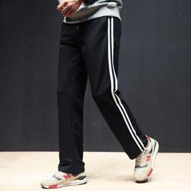运动裤男宽松直筒休闲长裤