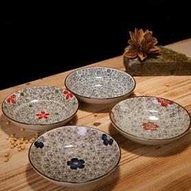 日式釉下彩餐具陶瓷盘子牛排盘酒店创意西餐餐盘菜盘家用鱼盘碟子