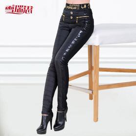 女修身弹力保暖裤高腰外穿显瘦