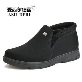 棉鞋男冬季保暖加绒爸爸鞋