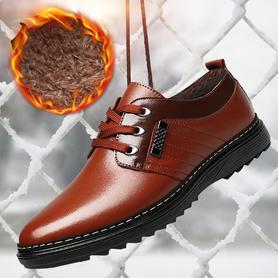 男士皮鞋男鞋冬季加绒保暖棉鞋