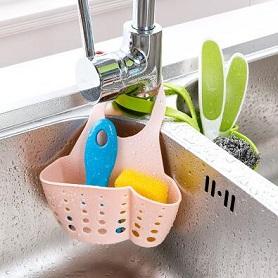 厨房用品海绵沥水架厨具沥水篮塑料收纳挂篮储物架置物架水槽挂架