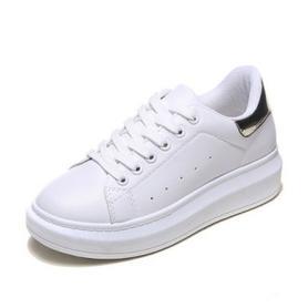简约百搭厚底小白鞋