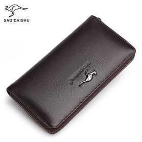 袋鼠男士钱包长款皮夹多卡位钱夹