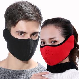 韩版护耳黑色防尘透气可清洗
