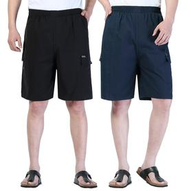 买一送一男休闲短裤纯棉五分裤