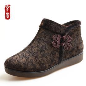 京晨老北京布鞋女鞋老人棉鞋
