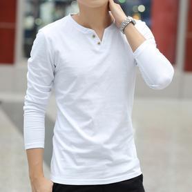 男士长袖T恤秋季纯棉打底衫