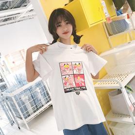 学生bf风女士宽松T恤