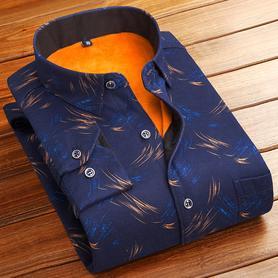 男士保暖衬衫加绒加厚