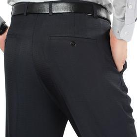 花花公子西装裤男宽松直筒休闲裤