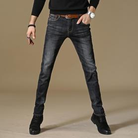 弹力牛仔裤男休闲修身小脚裤