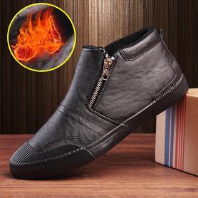 男士保暖加绒加厚休闲高帮板鞋