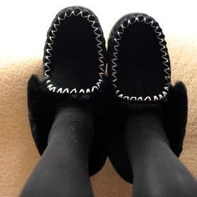 女加绒真皮雪地靴羊皮毛一体
