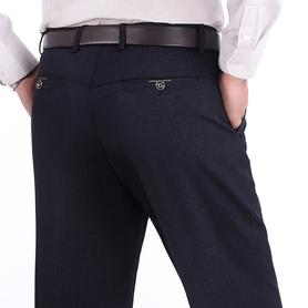 中年男裤春秋厚款休闲裤高腰西裤