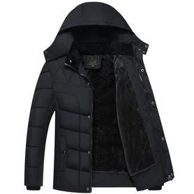 中老年人男棉衣加绒加厚冬装外套