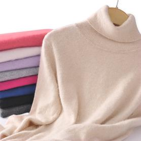 高领毛衣羊绒衫女