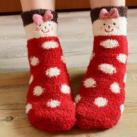 地板袜睡眠袜珊瑚绒袜子
