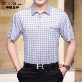 夏装中年男士短袖t恤衫