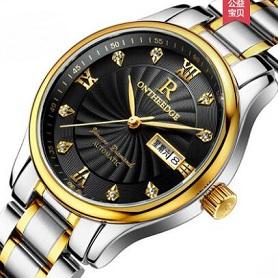 正品超薄防水精钢带石英男女手表男士腕表送皮带学生女士男表手表