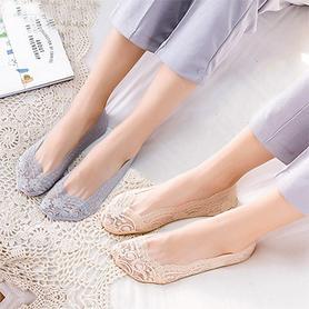 蕾丝船袜5双