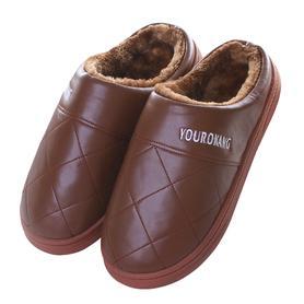 棉拖鞋女冬季情侣室内半包跟