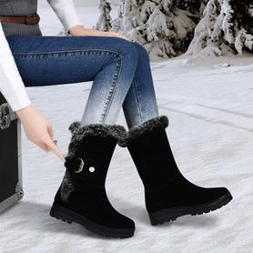 冬季雪地靴真皮女靴短靴