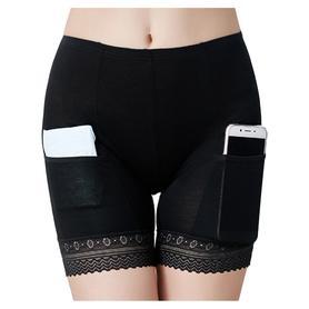 胖mm内穿保险短裤蕾丝打底裤