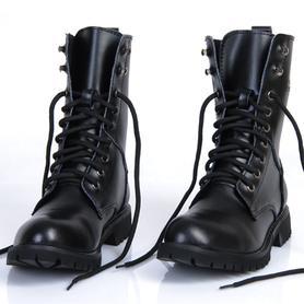 英伦韩版马丁靴男士真皮军靴