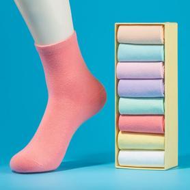 袜子女中筒袜8双