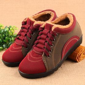 冬季加绒保暖中老年妈妈鞋